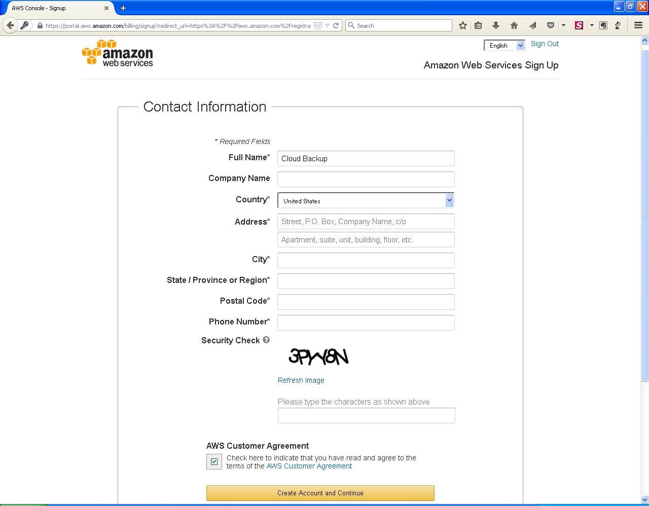 AWS contact info