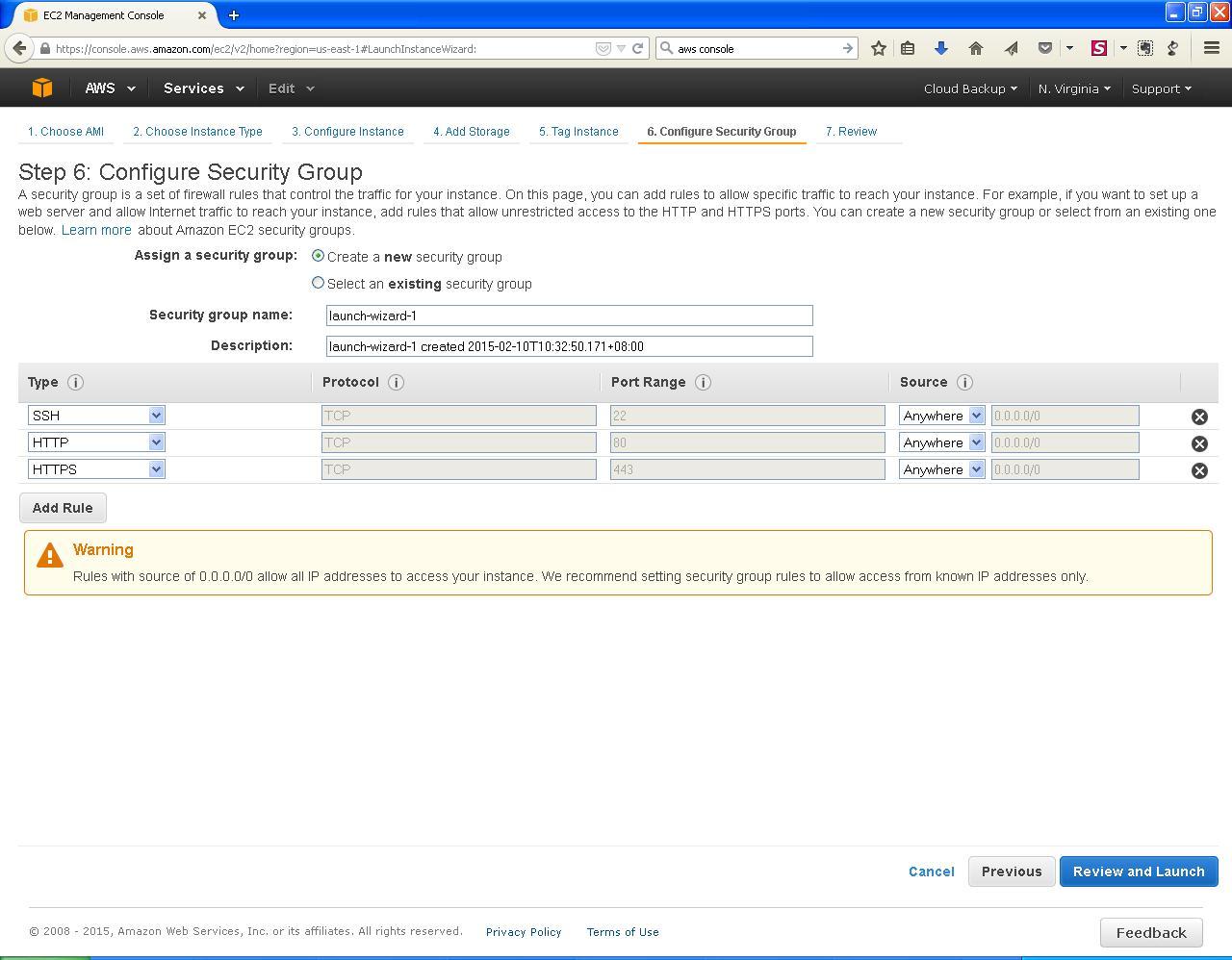 AWS EC2 Security Group