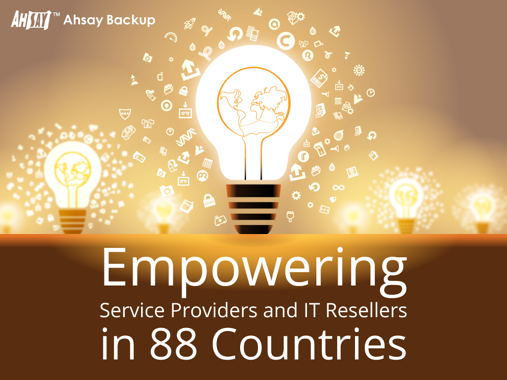 Ahsay Backup is empowering partners in 88 countries now