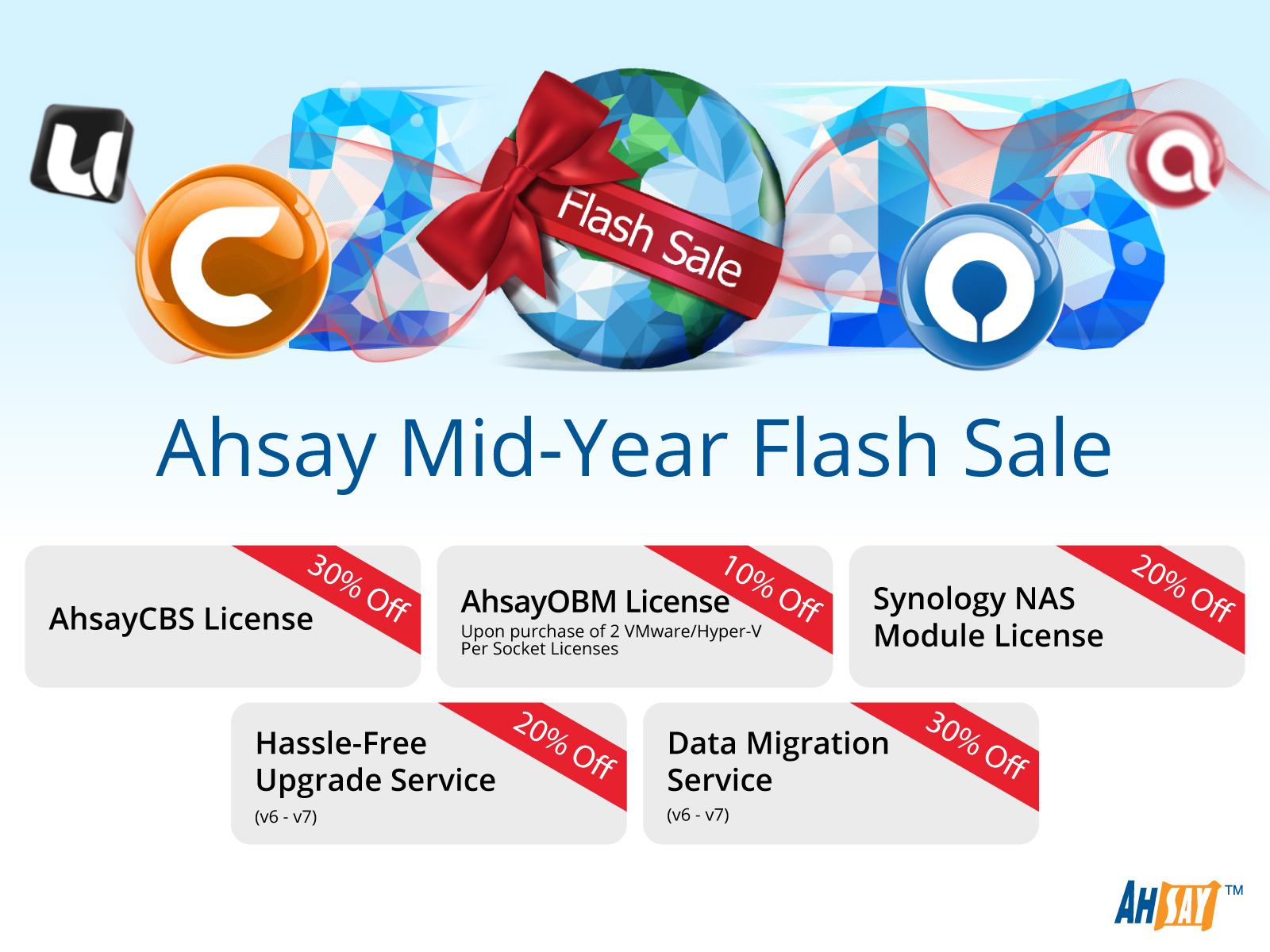 Ahsay Mid-Year Flash Sale 2016