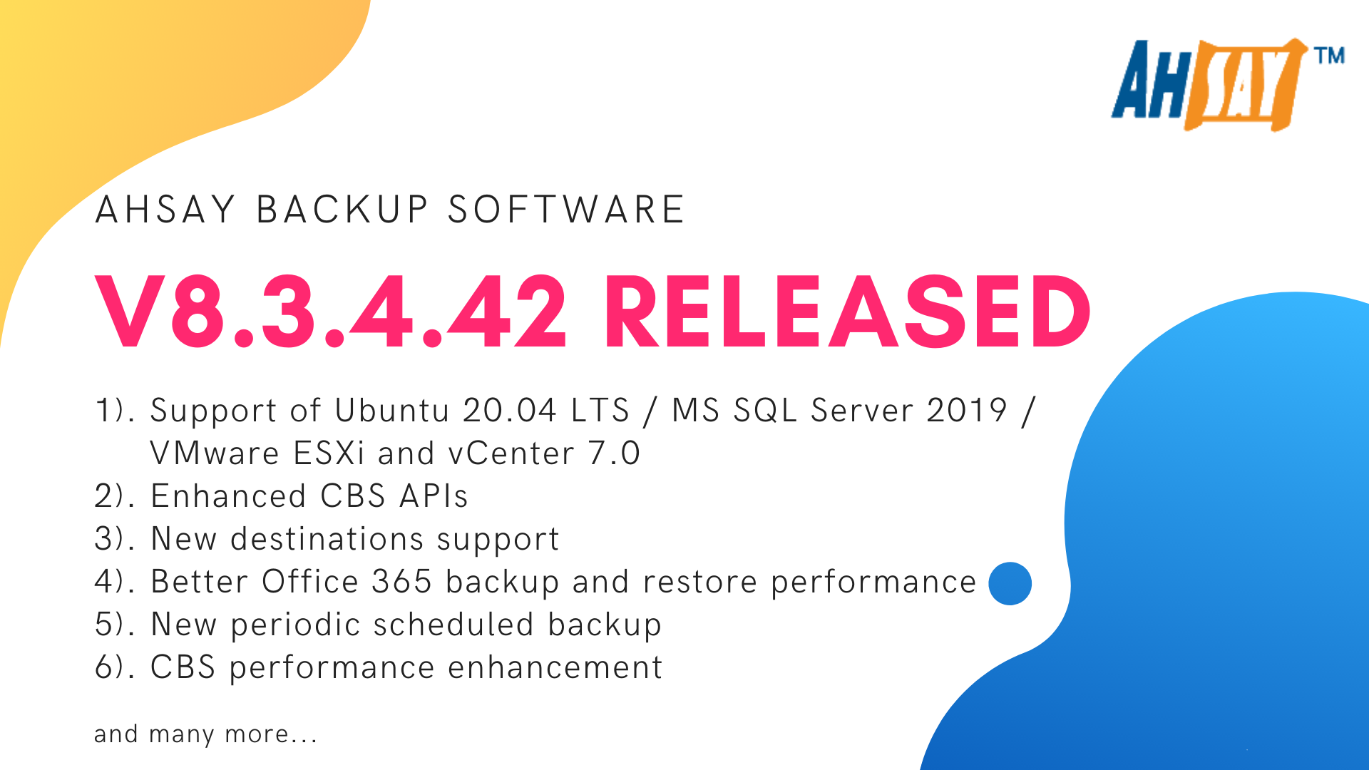 ahsay backup v8.3.4.42 released