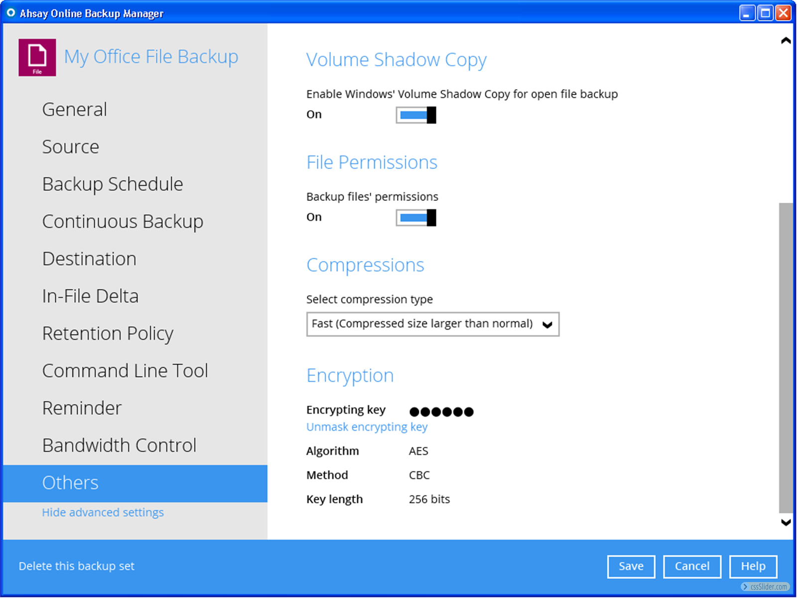 See the UI of Ahsay client backup agent - Ahsay Backup