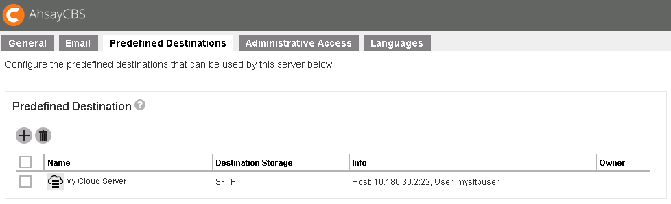 Backup data to FTP / SFTP server with Ahsay
